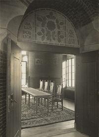 zicht in de raadzaal van het voormalige raadhuis aan het raadhuisplein gaw fotonr 14397